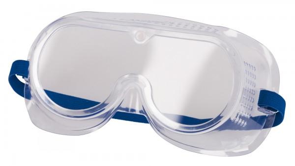 Vollsichtbrille mit einer Fassung aus PVC und Gläsern aus Polycarbonat