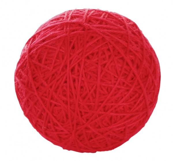 Wollspielball mit Rassel im Inneren, Durchmesser: 10 cm