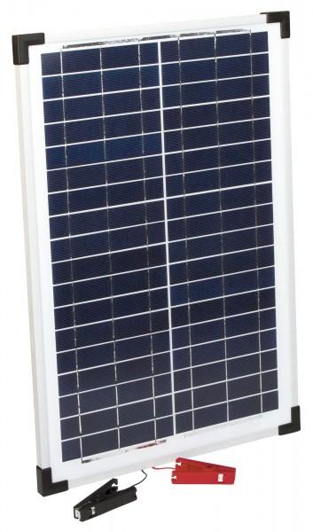 Solarmodul 25 W, passend für Duo Power X und Savanne Weidezaungeräte, mit Halterung und Polklemmen