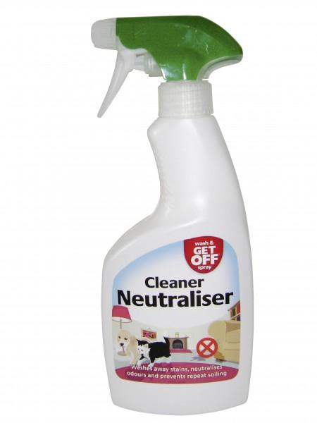 Wash and Get Off Spray reinigt und neutralisiert Urin und dessen Geruch