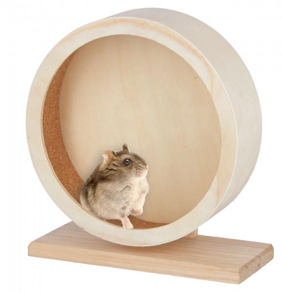 Hamsterlaufrad aus Holz und Kork, mit 22 cm und 29 cm Durchmesser