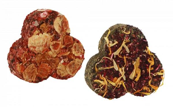 Kleeblätter, natürliche, erstklassige und hochwertige Snacks aus Kräutern, Getreide und Gemüse