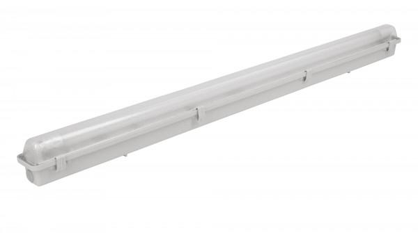 Feuchtraum-Wannenleuchte für LED-Röhre mit einem Gehäuse aus glasfaserverstärktem Polyester