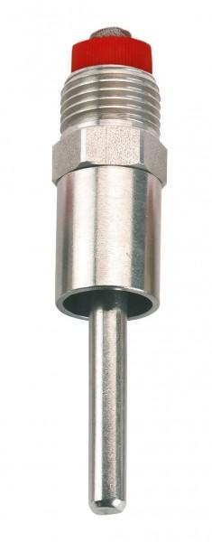 Trognippel 88 mm, Nippel aus Edelstahl mit Edelstahlsieb, 8 mm Druckkegel