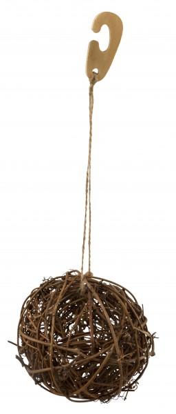 Ball aus naturbelassener Weide, zum Befüllen mit kleinen Futterstückche