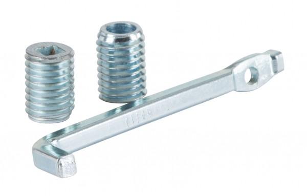 Sensenset, Sensenschlüssel mit 2 Sensenschrauben aus Stahl