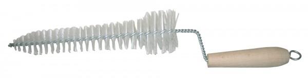 Zitzenbecherbürste ca. 40 cm lang, 2-stufige Borstenspirale, mit Holzgriff, stark strapazierfähig
