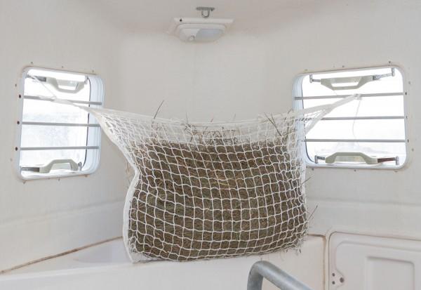 Besonders engmaschiges Heunetz zum Aufhängen auf der Weide, in der Box oder auf Reisen im Transporter