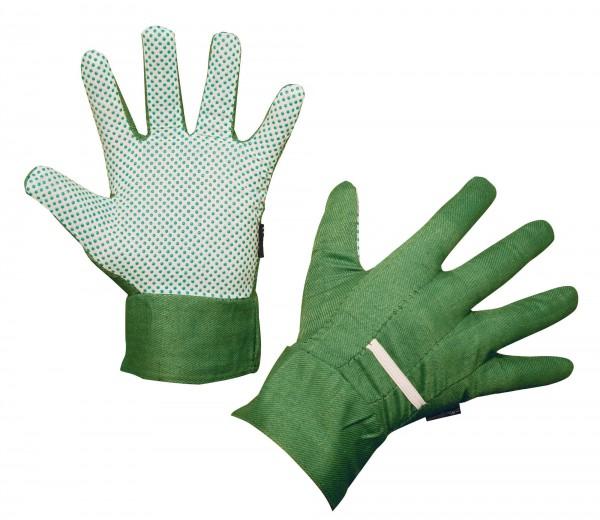 Universal-Gartenhandschuh für Damen und Herren mit Stulpen und Handinnenfläche mit PVC-Noppen