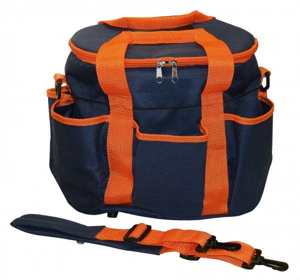Aufbewahrungstasche für unterwegs oder Zuhause, marine/orange