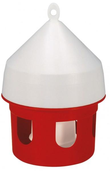 rote Taubentränke für 5 Liter Inhalt, Kunststofftränke zum Aufhängen oder Hinstellen