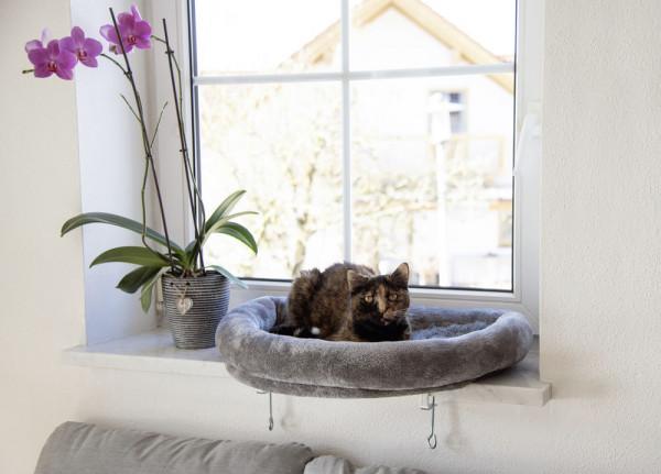 Fensterliegebett für Katzen, passend für alle Fensterbänke