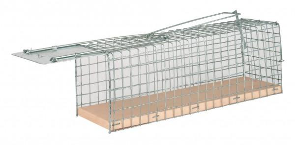 Drahtkäfig Rattenfalle Alive, Lebendfalle aus beschichtetem Draht, mit einer Klappe, Spannfeder und Kunststoffboden