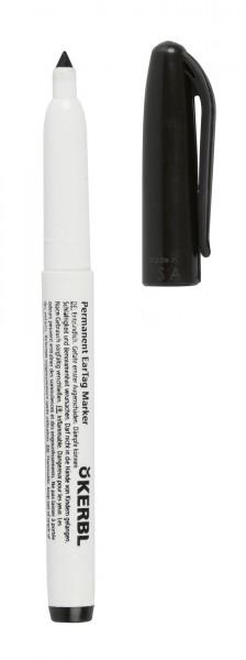 schwarzer Markierungsstift, Permanentmarkeer, wisch- und wasserfest mit dicker Strichstärke