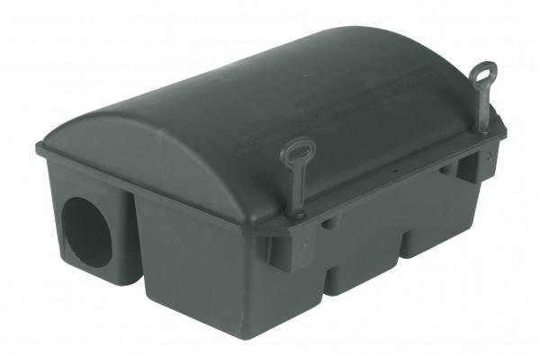 Köderstation BlocBox Kunststoff, Box Bora für Ratten, mit Schloss zur Sicherheit gegen unbefugtes Öffnen