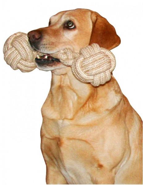 Hantel-Hundespielzeug aus natürlichem, robustem und widerstandsfähigem Material