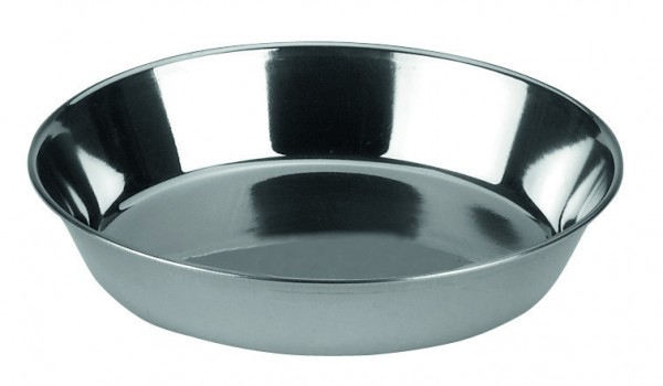 Edelstahlnapf, hygienisch und leicht zu reinigen, mit besonders niedrigem Rand