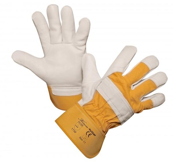 Rindsvollleder-Handschuh Yelltor, groß geschnitten, halb gefüttert, Lederstärke 1,1 mm