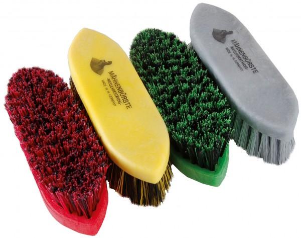 Mähnenbürste klein mit 3 cm langen Nylonborsten und Kunststoffrücken