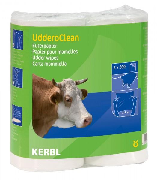 Euterpapier UdderoCLEAN mit Kartonkern, lebensmittelecht und biologisch abbaubar