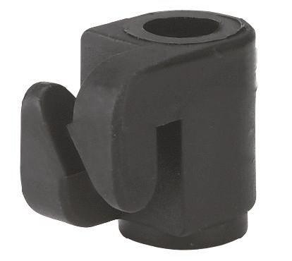 Nagelisolator aus schwarzem Kunststoff, Isolator zum Einhängen von Litzen und Drähte