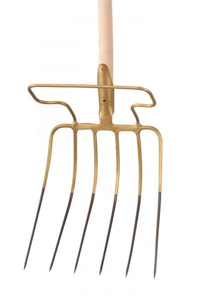 Häckselgabel ohne Stiel, mit praktischem Bügel und einer Größe von 36 x 33 x 27 cm