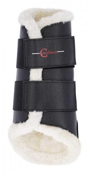 Dressurgamaschen mit Fleece für Pferde, Gamaschen aus strapazierfähigem Kunstleder