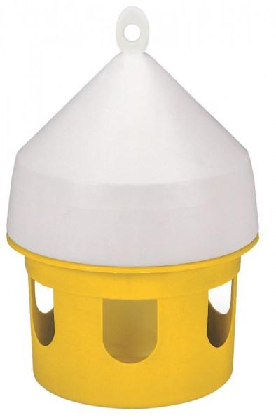 Taubenfutterhaus für 5 Liter Inhalt, Futterglocke aus Kunststoff, leicht zu reinigen, hygienisch