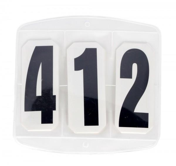 3-stellige Turniernummern für den Pferdesport, paarweise Lieferung