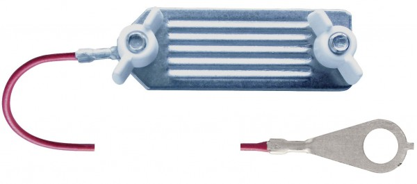 Bandanschlusskabel ist der mechanisch und elektrisch perfekte Anschluss vom Elektrozaungerät zum Weidezaunband bis 40 mm Breite