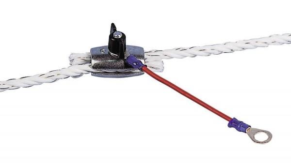 Seilanschlusskabel, der mechanisch und elektrisch perfekte Anschluss vom Elektrozaungerät zum Weidezaunseil