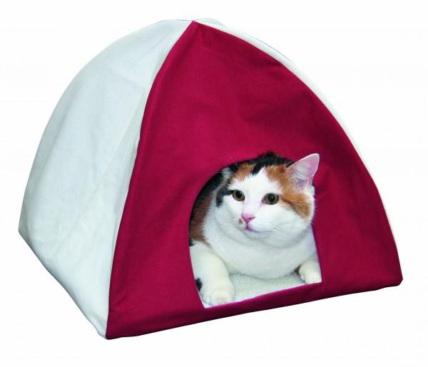 Kuscheliges Schlafzelt für Katzen mit herausnehmbarer Fleece-Einlage, waschbare Einlage