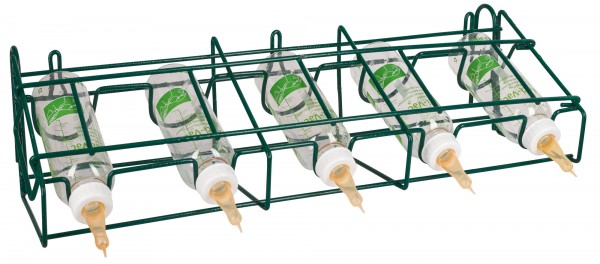 Halterung für Lämmerflaschen Anti Vac, Flaschengestell für 5 Lämmerflaschen