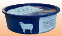 Bio Leckschale für Schafe, Mineralfuttermittel Leckmasse in praktischer Kunststoff-Schüssel, 10 kg Inhalt