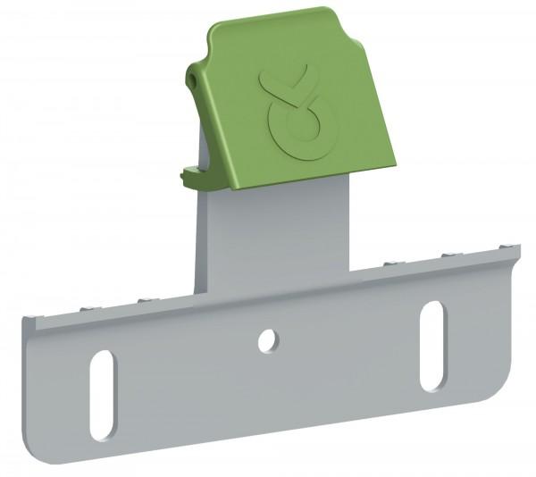Aufhängeblech Bucket Guard kann an bestehende Aufhängebleche nachgerüstet werden