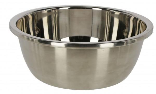Futterschale aus Edelstahl, robuste und hygienische Schüssel universell einsetzbar, 5,5 Liter Inhalt