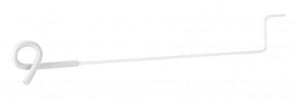 Vorbau-Ösenisolator mit langer Stütze, weißer Isolator mit 40 cm langer Stütze, Abstandshalter