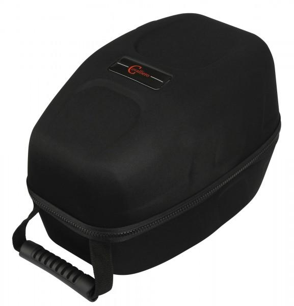 Schöner Koffer zur geschützten Aufbewahrung und zum leichteren Transport von Reithelmen