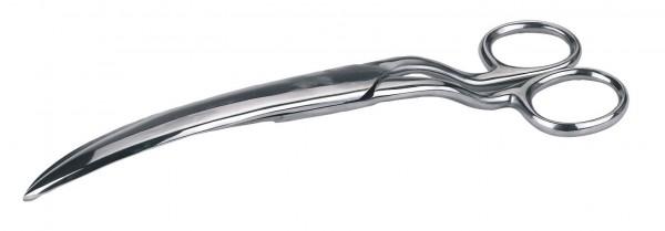 Fesselschere in gebogener Form, reduziert das Verletzungsrisiko auf ein Minimum