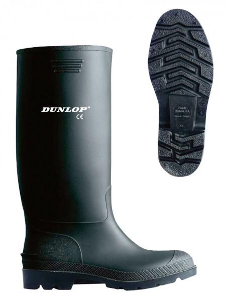 """schwarzer Arbeitsstiefel von Dunlop, """"Gummistiefel"""" mit kleinem Logo am Schaft"""