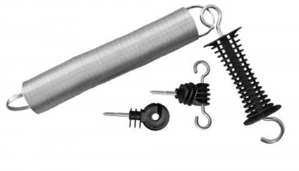 Torgriff-Set mit ausziehbarer Feder, Komplettset mit Torgriff, Ringisolator und Torgriffisolator