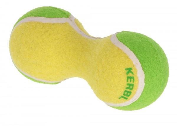 Tennishantel, Hundespielzeug bestehend aus zwei Tennisbällen, 3 Stück