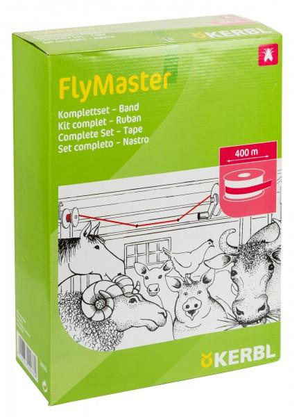 Stallfliegenfänger FlyMaster Band, Komplettset zum giftfreien Fangen von Insekten im Stall