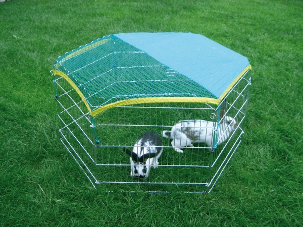 Freilaufgehege 6-eckig, für Kaninchen und Nager