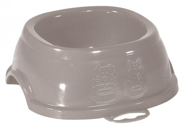 Einfacher Kunststoffnapf für Wasser oder Futter, hellrosa, in 4 Größen erhältlich