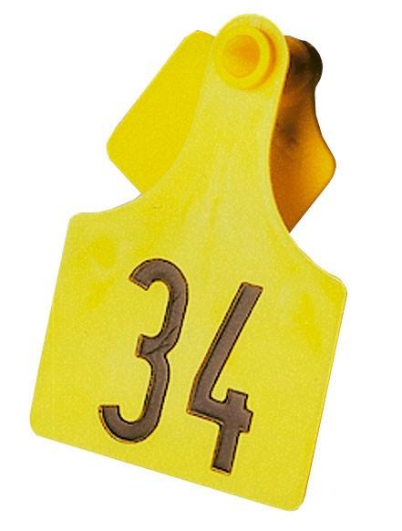 PrimaFlex Ohrmarken Größe 3, geprägt, Farbe gelb