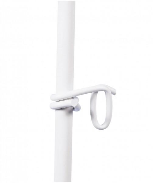 Oese/ Zusatzöse für Kunststoff-Pfähle, weiße Öse für Weidezaun-/ Koppelbänder bis 40 mm Breite