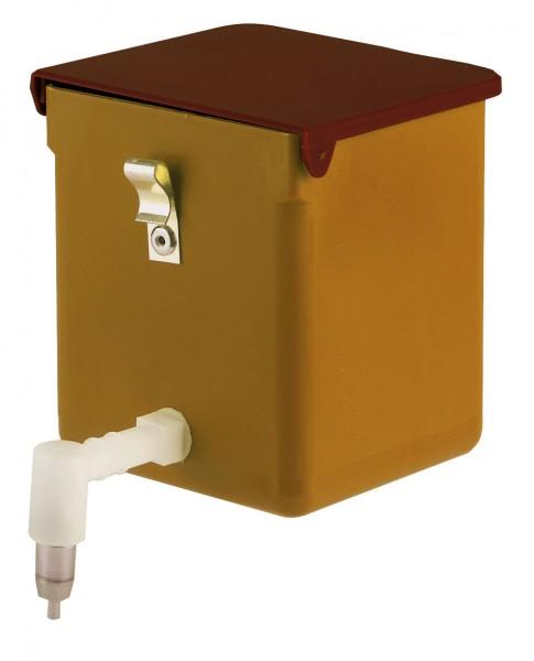 Spezial-Tränkeflasche aus Kunststoff, Nippeltränke mit Deckel zum einfachen Befüllen von außen, 0,5 Liter Inhalt