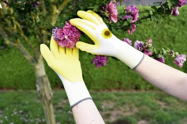 Gartenhandschuh Garden Care mit perfekter Passform, gelb