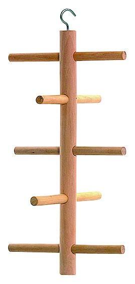 Klettergerüst aus Holz für Abwechslung im Vogelkäfig, 3 Stück